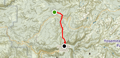 White Wolf to Upper Yosemite Falls to Yosemite Valley Lodge  Map