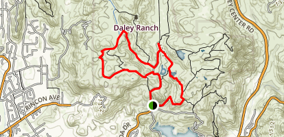 East Ridge and Boulder Loop Map