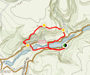 Torside and Rhodeswood Reservoirs Loop Map