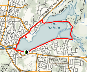 Lac Boivin Loop Map