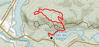 Contreforts Trail Map