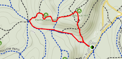 Hancock Hill and Hemenway Hill Loop Map