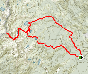 Sing Peak Backpack to Lillian, Stanford and Chittenden Lake Map