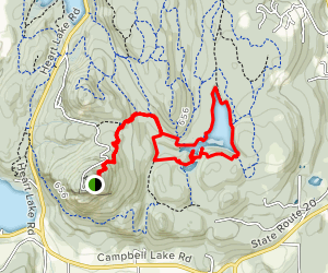 Whistle Lake from Mount Erie Map