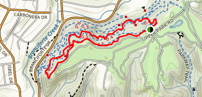 Upper Delaveaga Loop Map