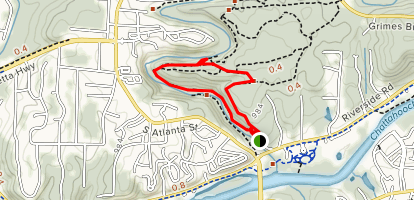 Vickery Creek Short Loop Map