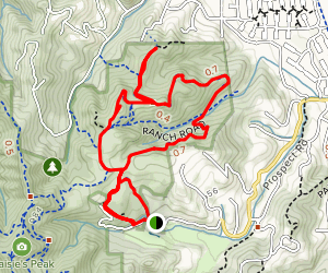 Rainbow Knoll and Hunter's Point via Seven Springs Loop Map