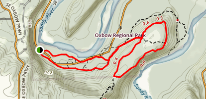 Oxbow Loop Hike Map