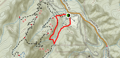 Peterson Memorial Trail and Sanborn Trail Map