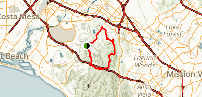 Bommer to Serrano to Shady Canyon Loop Map