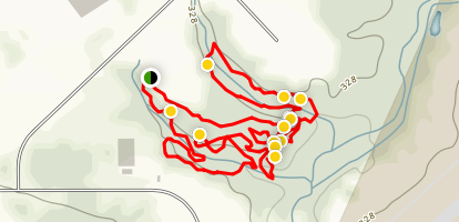 Thompson Mountain Bike Trails Map