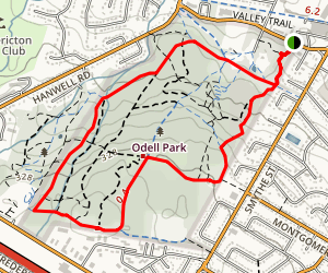 Odell Park Big Circuit Map