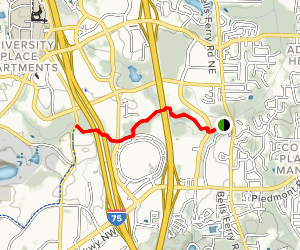 Town Center Via Noonday Creek Trail Map