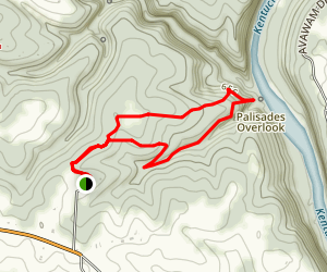 Raven Run Palisades Overlook Loop Map