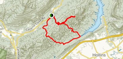 Carvins Cove: Hi-Dee Ho to the Gauntlet and the Horse Pen Loop Map