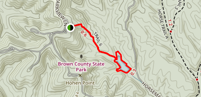 Strahl Lake Trail via Trail 6 Map