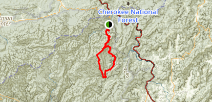 Mount Sterling Backpacking Trail Map