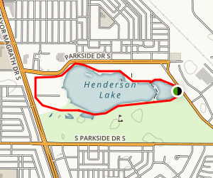 Henderson Lake Map