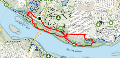North Bank Trail To Texas Beach Loop Map