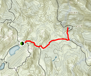 Lower Gardner Meadow, Wolf Creek Pass and Asa Lake Map