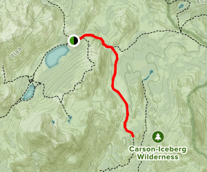 Upper Gardner Meadow via Highland Lakes Trail Map