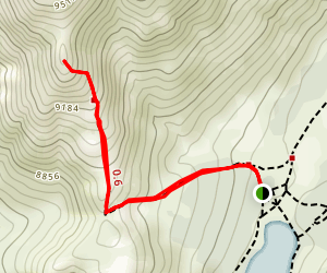 Highland Lakes Campground to Folger Peak Map