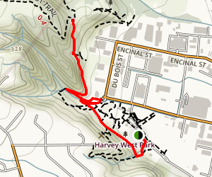 Old Stage Trail to Harvey West Trail Map
