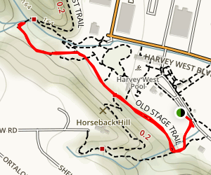 Old Stage Trail to Dos Puentes Trail Map
