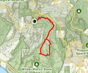 Woodcutters Trail to Chinquapin Trail to Eucalyptus Loop Map