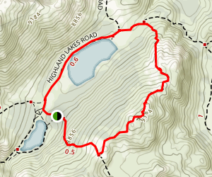 Lower Highland Lake Loop Map