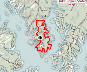 Lake Norman Lakeshore Trail Map