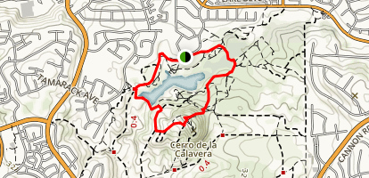 Calavera Lake Loop Map