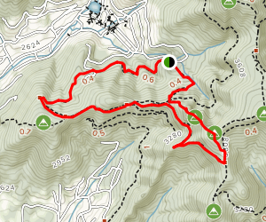 Montreat Rainbow Trail, Toll Road, Lookout Mountain Map