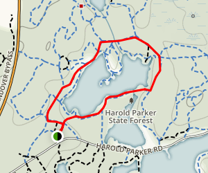 Brackett Pond Loop Map