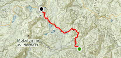 Ebbetts Pass to Carson Pass  Map
