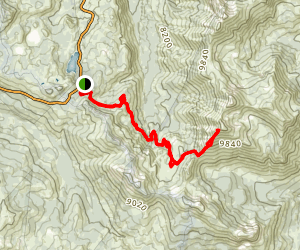 Highland Peak Via PCT Map