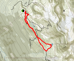 Overlord Trail to Lakeside Loop Map