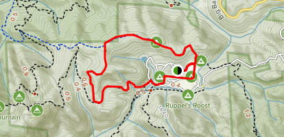 Tanbark and Pig Ridge Cutoff Loop Map