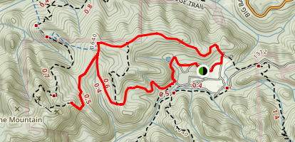 Tanbark Loop Trail and Buzzard's Roost Loop Map