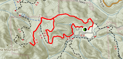 Tanbark Loop, Buzzard's Roost and Pig Ridge Cutoff Map