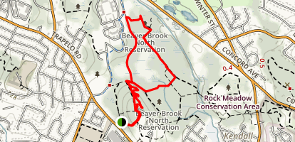 Beaver Brook North Reservation Map