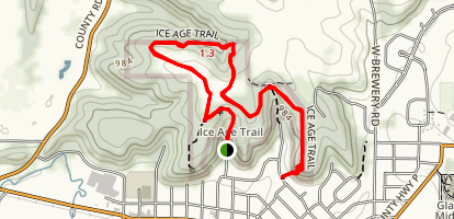 Ice Age Trail Cross Plains Segment Map