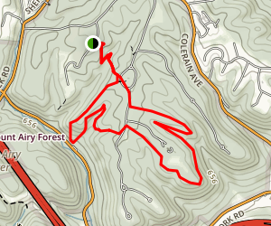 G Trail, Cedar Trail, Furnas Trail Loop Map