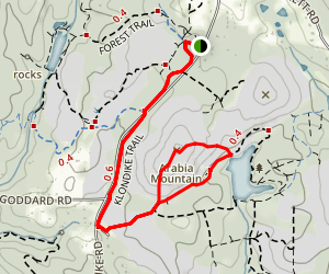 Klondike Trail to Mountain Top Loop Map