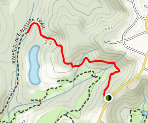 River Place Nature Trail Upper Section Map