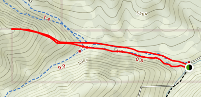 Yellow Fork- Left Peak Map