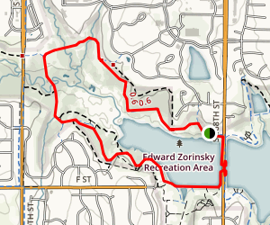 Zorinsky Lake West Trail Map