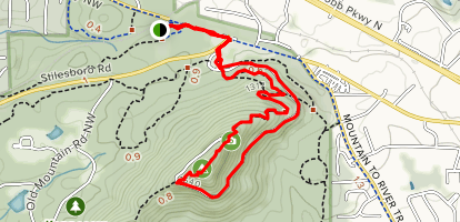 Kennesaw Mountain and Visitor Center Short Loop Map