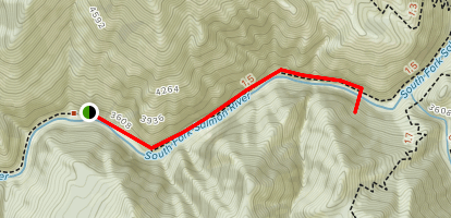 Cluster Hot Springs Trail Map