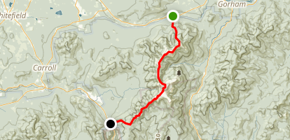 Presidential Traverse: Randolph to Highland Center Lodge Map